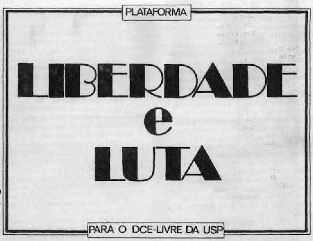 Panfleto Liberdade e Luta