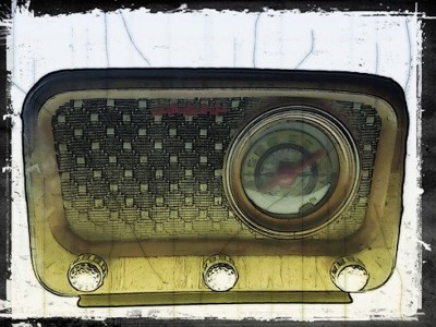 aparelho de rádio anos 1950