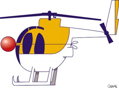 desenho de helicóptero