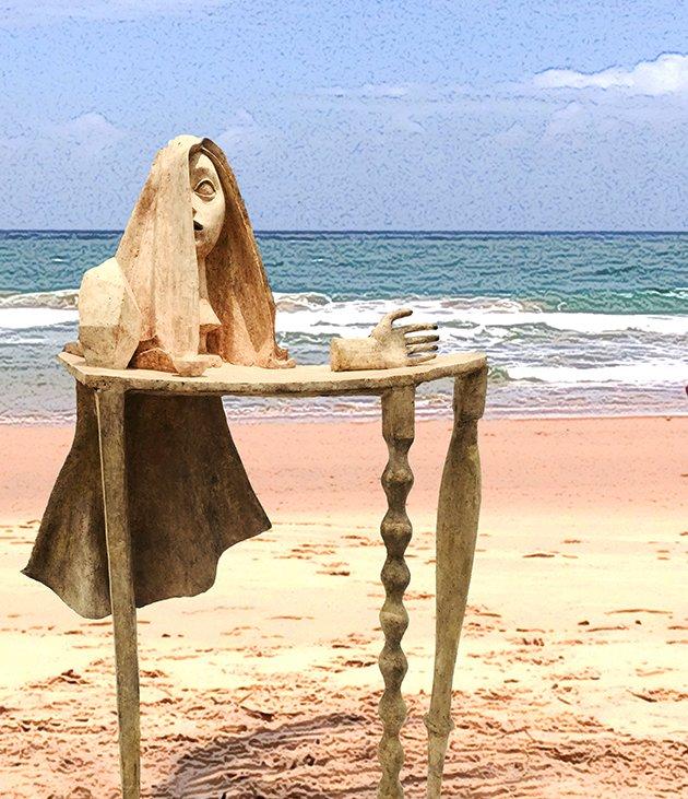Releitura: Régine Ferrandis de obra do Giacometti
