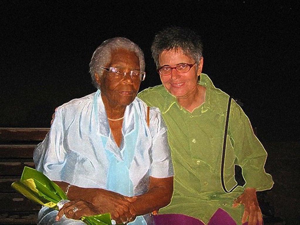 Mãe Stella e eu, 2006. Foto Régine Ferrandis
