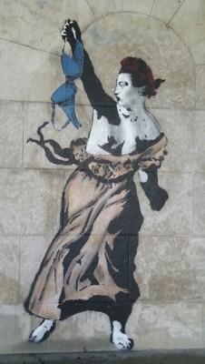 Num muro releitura da figura da República